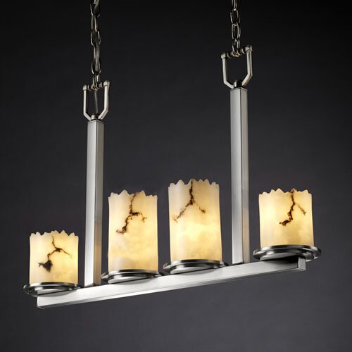 Justice Design Group LumenAria Dakota 4 Light Chandelier