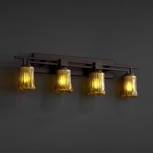 Justice Design Group Veneto Luce Aero 4 Light Bath Vanity Light