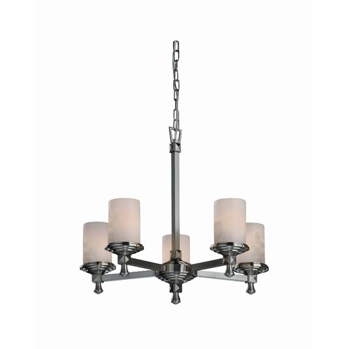 Justice Design Group Deco Clouds 5 Light Chandelier