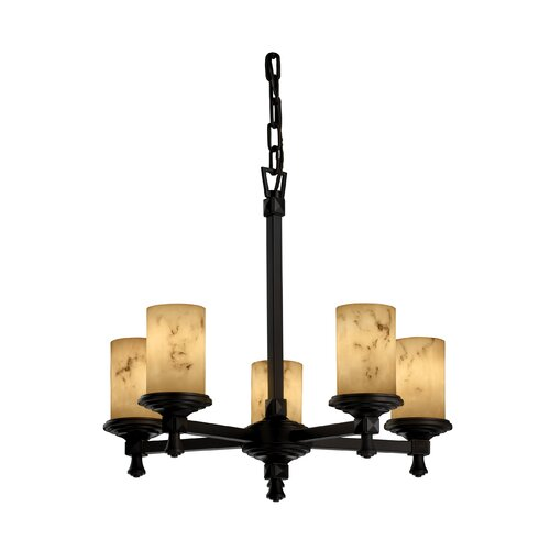 Justice Design Group Deco LumenAria 5 Light Chandelier