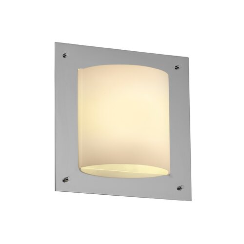Justice Design Group Framed Fusion Square 4-Sided 1 Light Wall Sconce