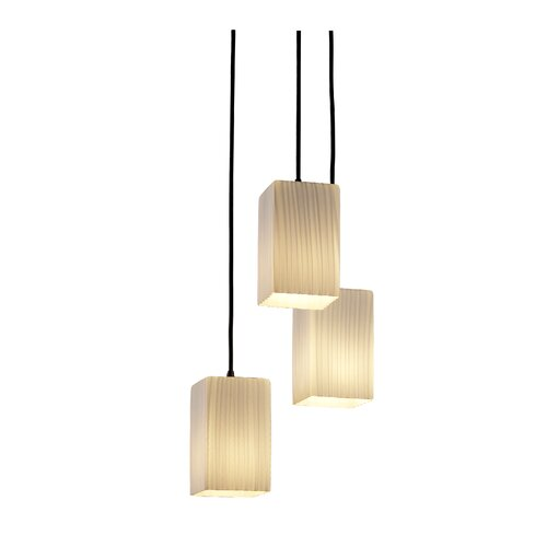 Justice Design Group Fusion 3 Light Pendant