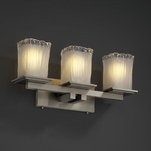 Justice Design Group Montana Veneto Luce 3 Light Bath Vanity Light