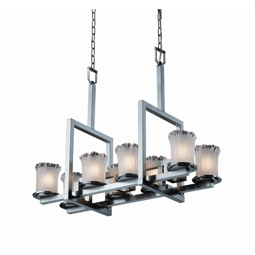 Dakota Veneto Luce 8-Up and 3-Down Light Bridge Chandelier