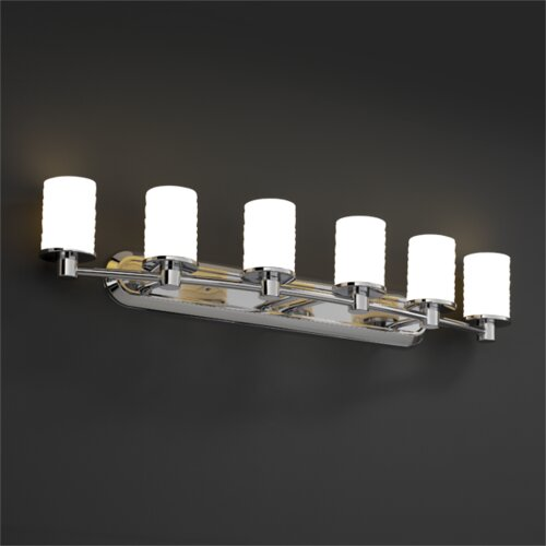 Justice Design Group Rondo Limoges 6 Light Bath Vanity Light