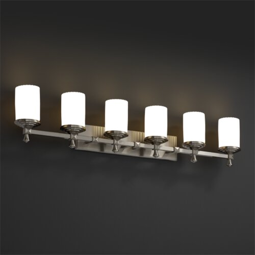 Justice Design Group Deco Limoges 6 Light Bath Vanity Light
