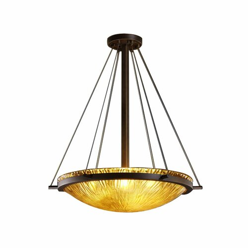 Justice Design Group Veneto Luce 6 Light Inverted Pendant
