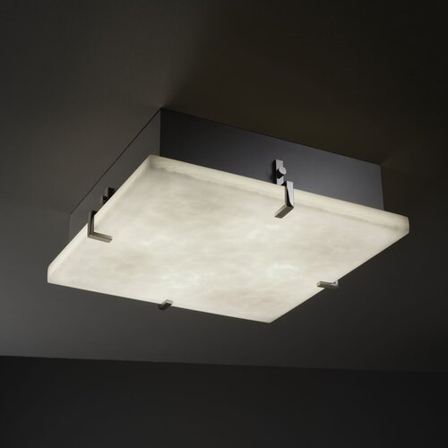 Justice Design Group Clouds 4 Light Clips Square Flush Mount