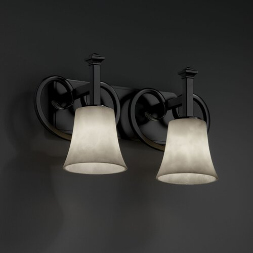 Justice Design Group Clouds Heritage 2 Light Bath Vanity Light