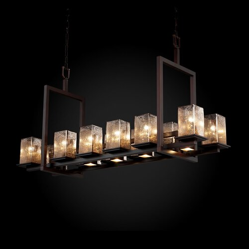 Justice Design Group Fusion Montana 12 Up and 5 Downlight Bridge Short Chandelier