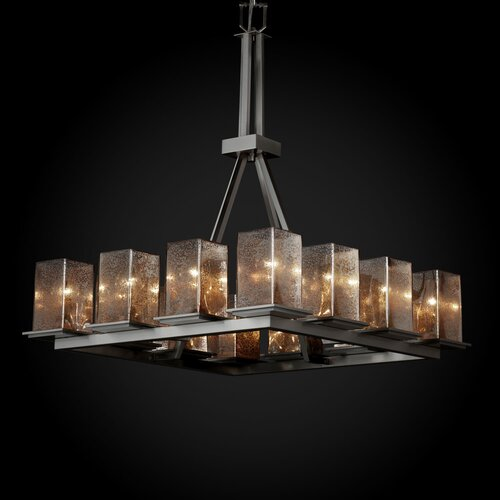 Justice Design Group Fusion Montana 12 Light Ring Tall Chandelier