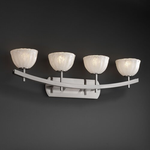 Justice Design Group Archway 4 Light  Bath Vanity Light