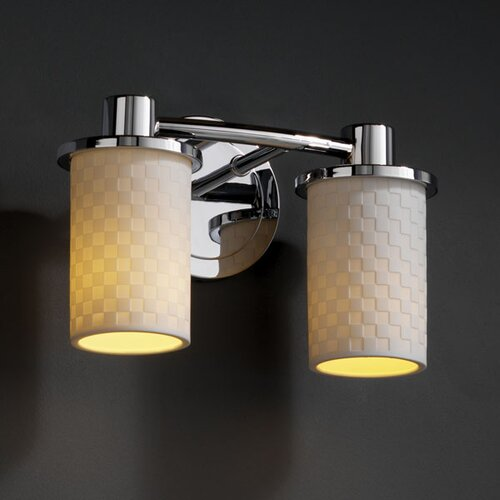 Justice Design Group Limoges Rondo 2 Light Bath Vanity Light
