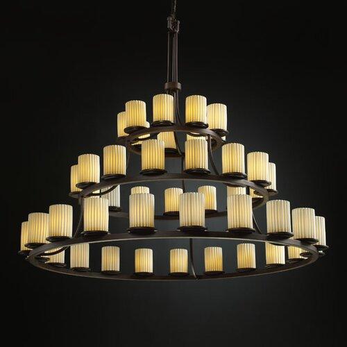 Justice Design Group Limoges Dakota 45 Light Chandelier