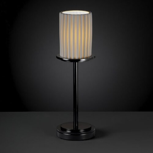 """Justice Design Group Limoges Dakota 12"""" H Table Lamp with Drum Shade"""