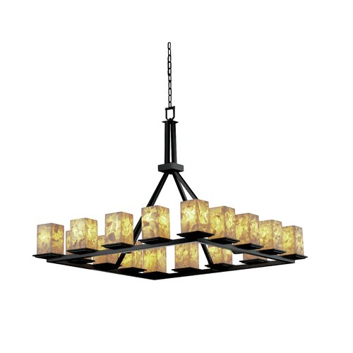 Montana Alabaster Rocks 16 Light Chandelier