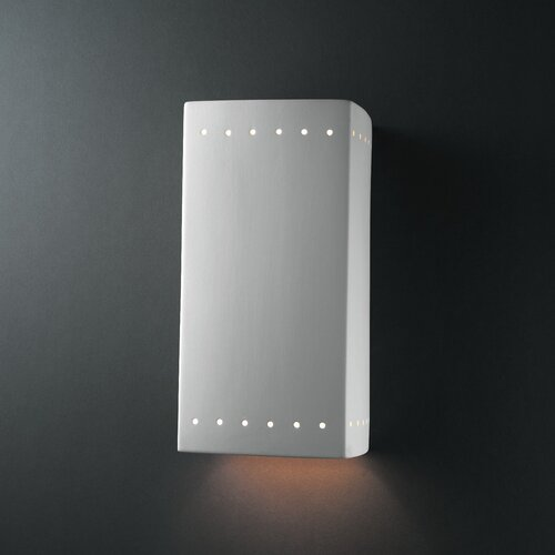 Justice Design Group Ambiance Closed Top 1 Light Wall Sconce