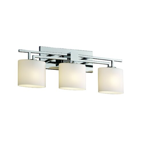 Bathroom Vanity Lighting Design : Justice Design Group Fusion Aero 3 Light Bath Vanity Light & Reviews Wayfair