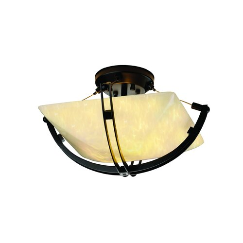 Fusion Two Light Semi Flush Bowl