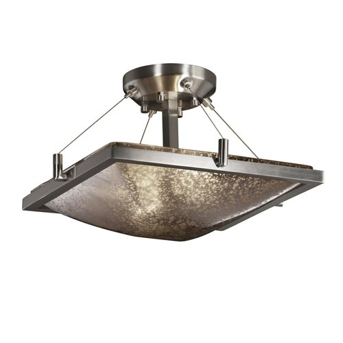 Fusion 2 Light Square Semi Flush Bowl