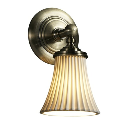 Justice Design Group Limoges Tradition 1 Light Wall Sconce
