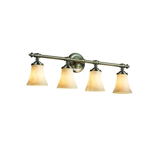 Justice Design Group Clouds Tradition 4 Light Bath Vanity Light