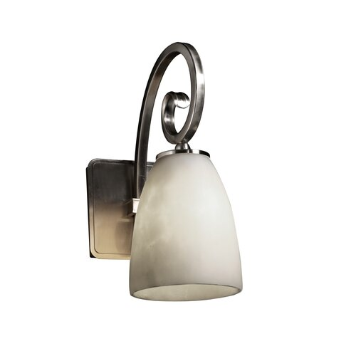 Justice Design Group Clouds Victoria 1 Light Wall Sconce
