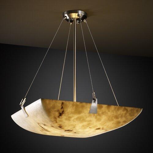 Justice Design Group LumenAria 8 Light Inverted Pendant
