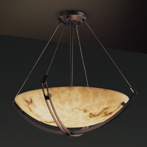 Justice Design Group LumenAria 8 Light Inverted Pendant
