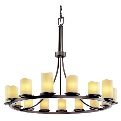 Justice Design Group CandleAria Dakota 15 Light Chandelier