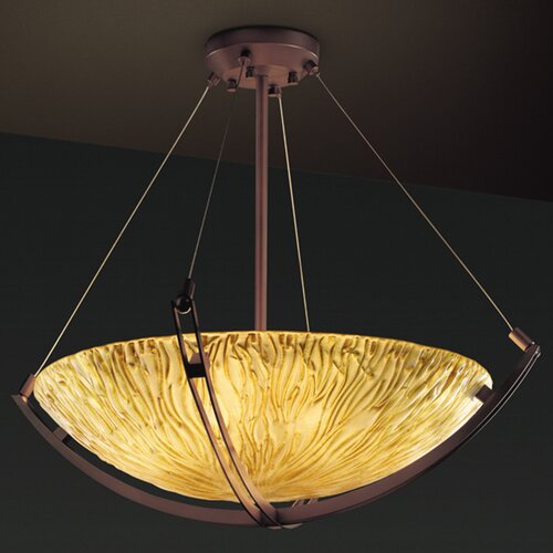 Veneto Luce 3 Light Inverted Pendant