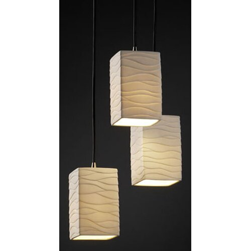 Justice Design Group Limoges 3 Light Pendant