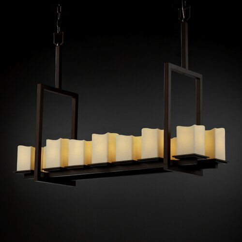 Justice Design Group CandleAria Montana 14 Light Chandelier