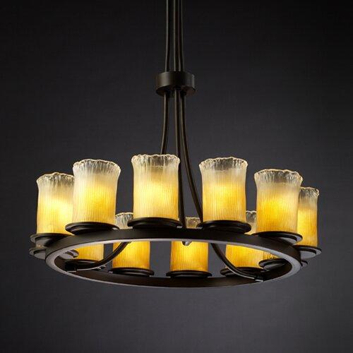 Justice Design Group Veneto Luce Dakota 12 Light Chandelier with Additional Chain