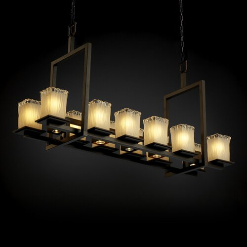 Montana Veneto Luce 12-Up and 5-Down Light Short Bridge Chandelier