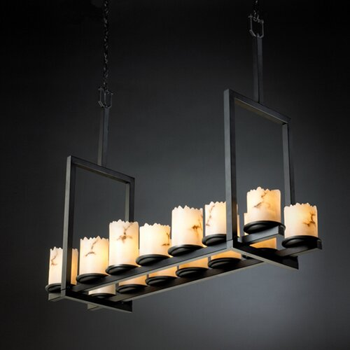 Justice Design Group LumenAria Dakota 14 Light Chandelier with Additional Chain