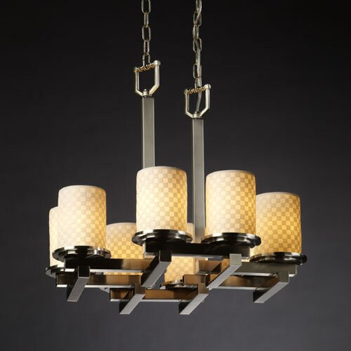 Justice Design Group Limoges Dakota 8 Light Chandelier