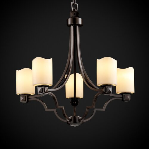 Justice Design Group CandleAria Argyle 5 Light Chandelier