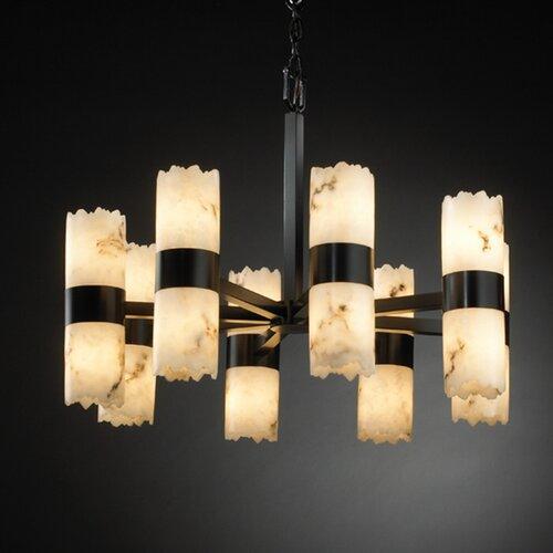 Justice Design Group LumenAria Dakota 16 Light Chandelier with Additional Chain