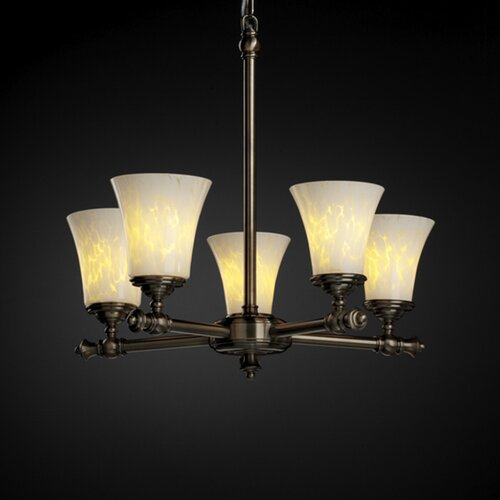 Justice Design Group Tradition Fusion 5 Light Chandelier
