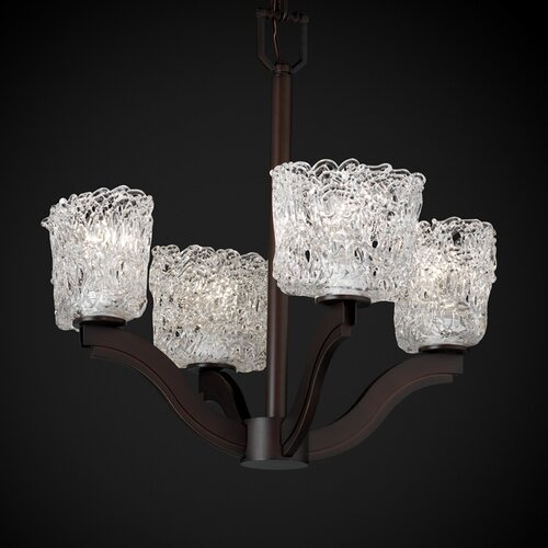 Veneto Luce Bend 4 Light Chandelier