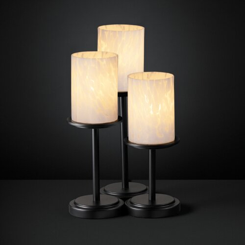 """Justice Design Group Fusion Dakota 16"""" H Table Lamp with Drum Shade"""