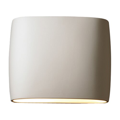 Justice Design Group Ambiance Open Top and Bottom Wide Oval 2 Light Wall Sconce
