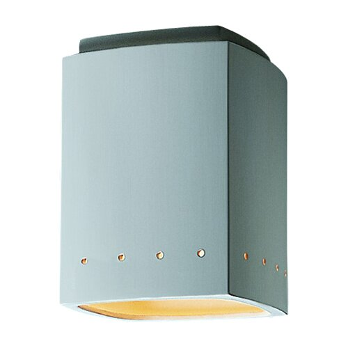 Justice Design Group Radiance 1 Light Outdoor Flush Mount