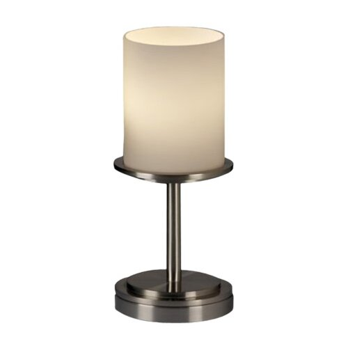 "Justice Design Group Fusion Dakota Portable 12"" H Table Lamp with Drum Shade"