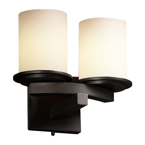 Justice Design Group Fusion Dakota 2 Light Wall Sconce