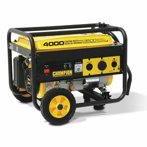 Champion Power Equipment 3,500 Watt Portable Gasoline Generator with Wheel Kit