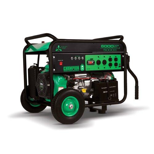 Portable 6,000 Watt Liquid Propane Generator