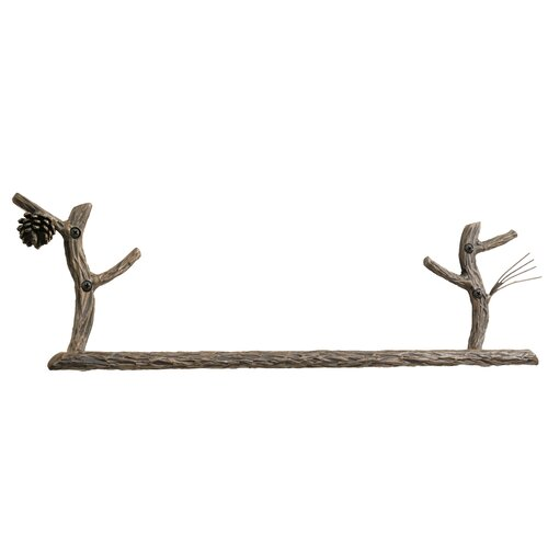 "Stone County Ironworks Pine 22"" Wall Mounted Towel Bar"