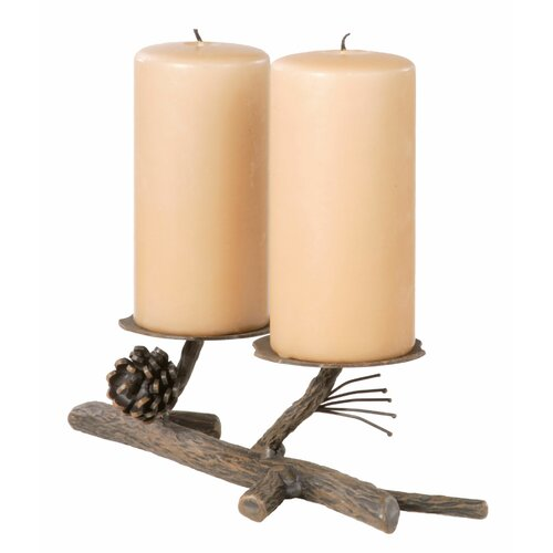 Stone County Ironworks Pine Double Candelabra